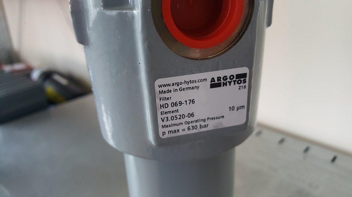 Spiediena filtrs 85 l/min 10μ ar indikatoru