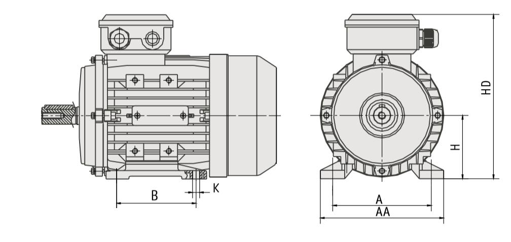 Elektrodzinējs 5.5 kW 1440 apgr./min IE3